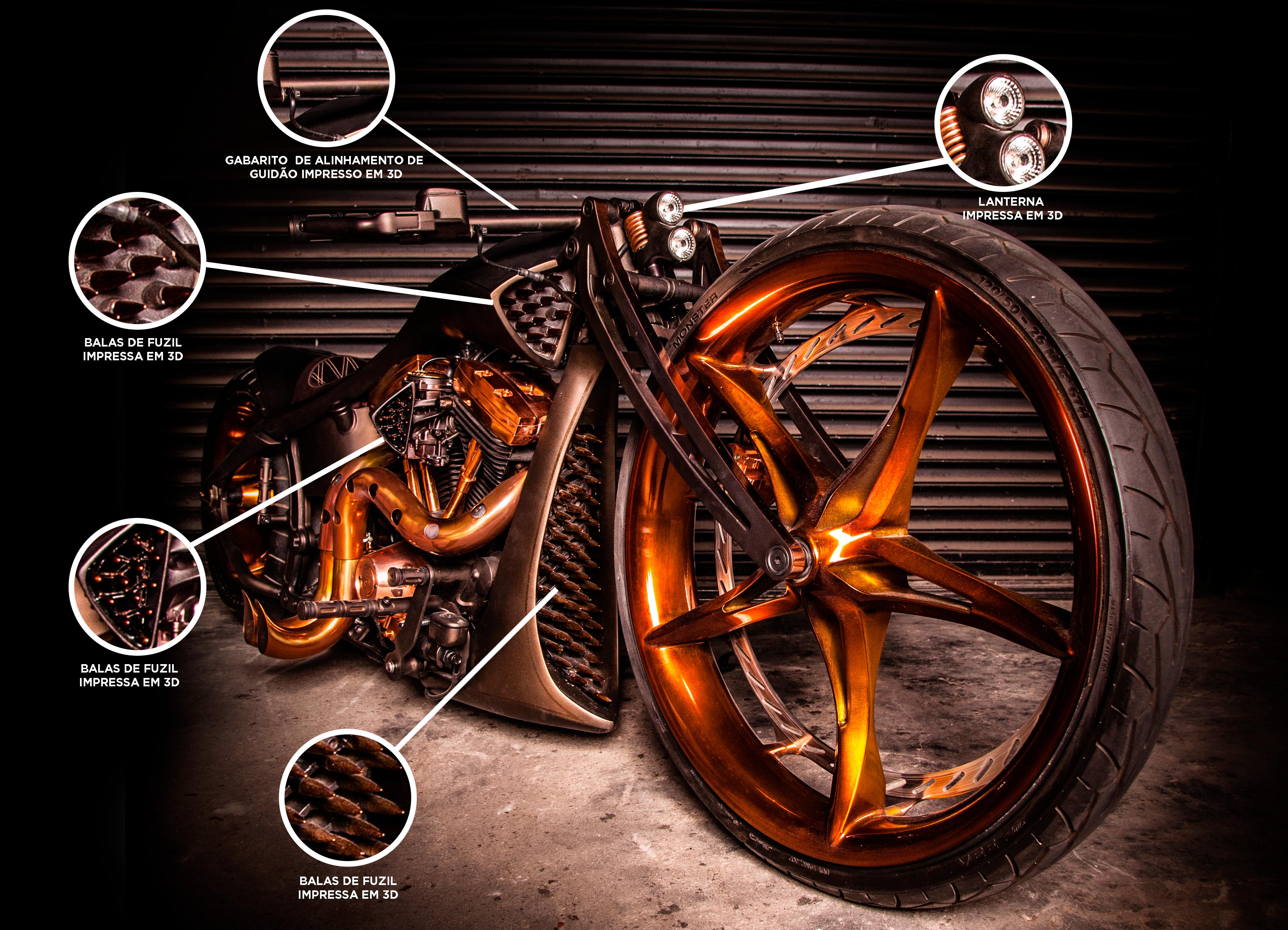 impressao 3d na oficina tmc tarso marques concept personalizacao moto tmc armata
