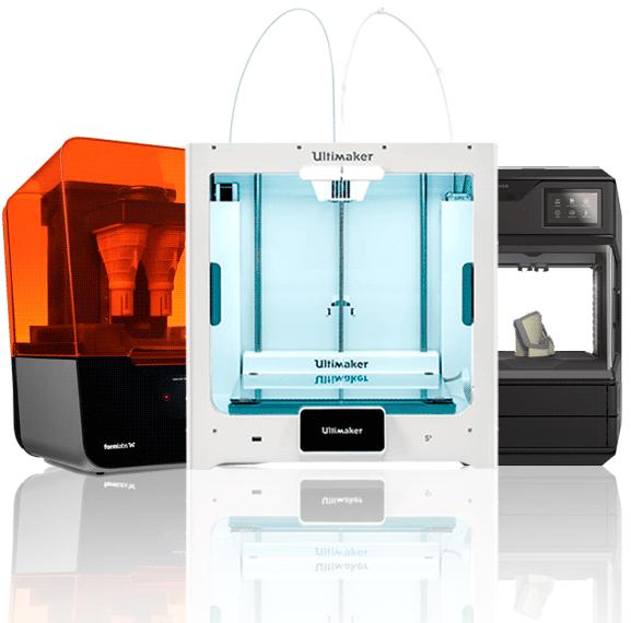 Impressoras 3D da Formlabs, Ultimaker e Makerbot