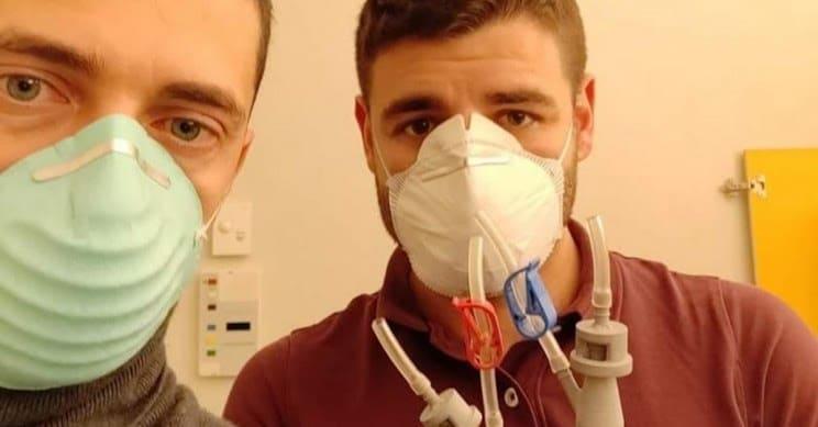 respirador coronavirus impressao 3d italia