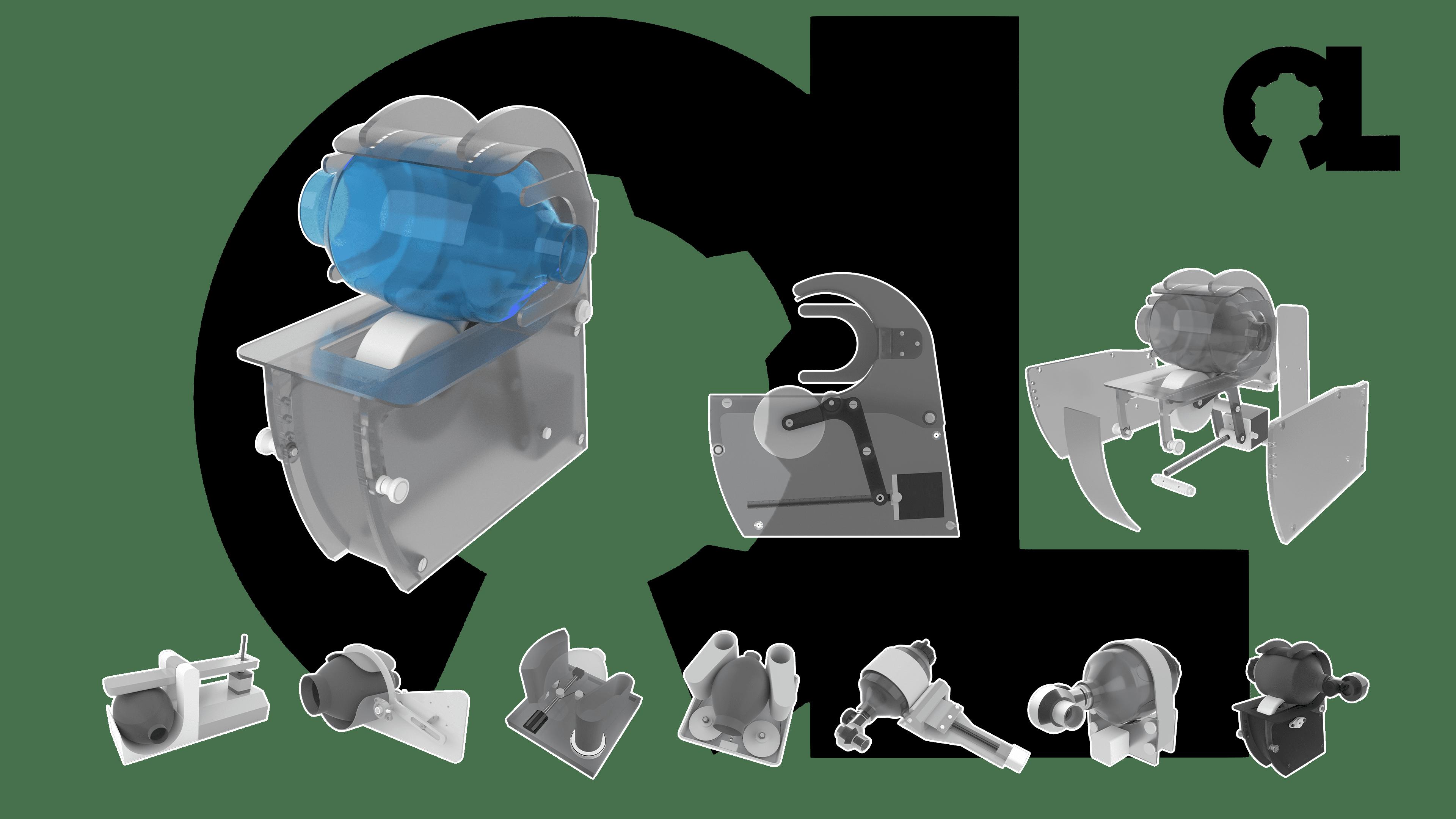 respirador open lung ventilator