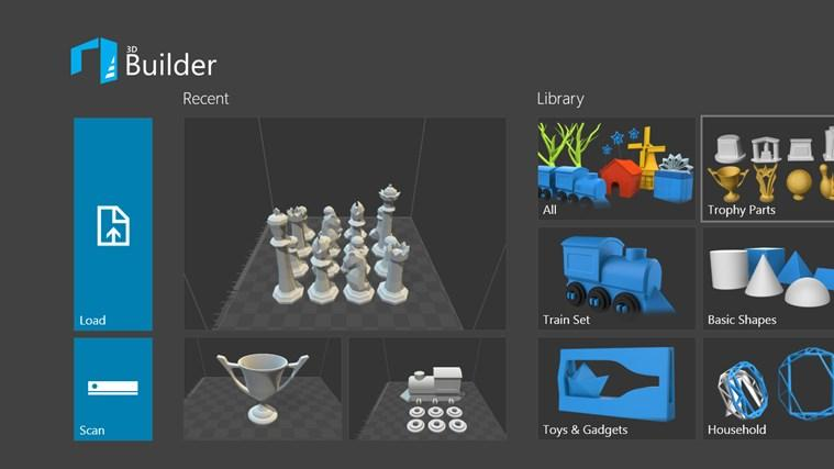 microsoft 3d builder interface