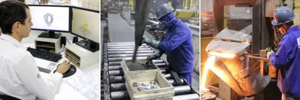 Produção de peças fundidas na Riosulense