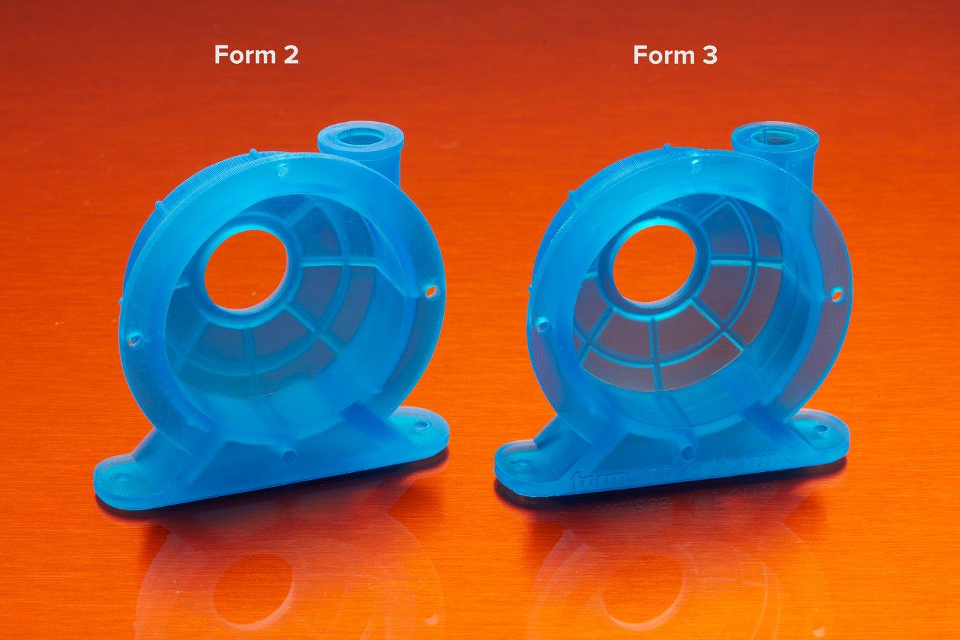 Form 2 vs Form 3 - Comparando peças impressas em 3D