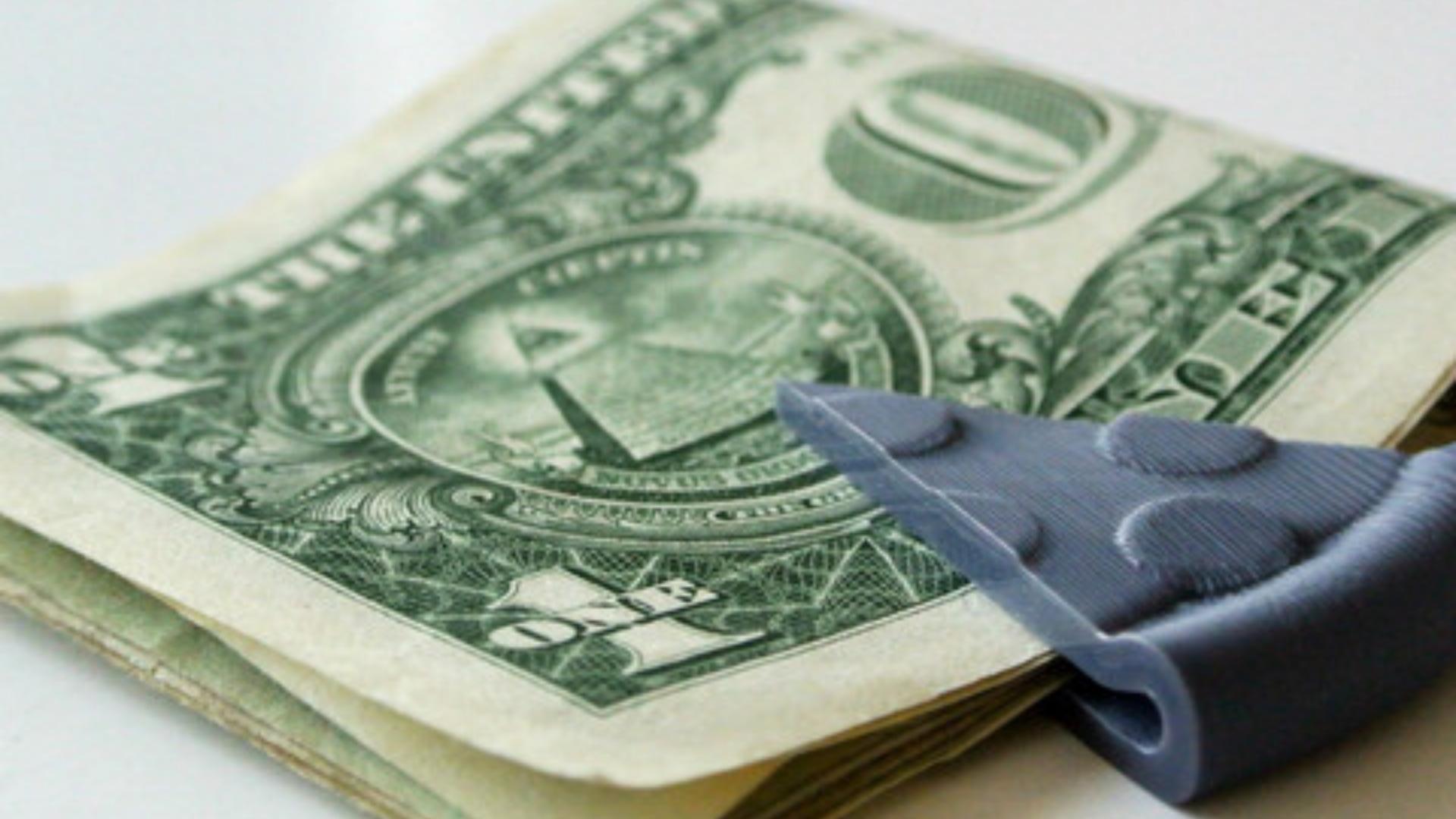 projetos legais e úteis para imprimir em 3D clip para dinheiro