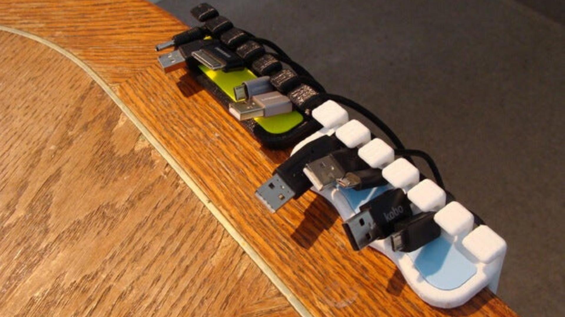 projetos legais e úteis para imprimir em 3D organizador de cabos usb