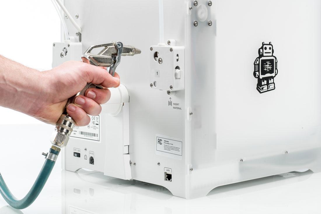 tutorial como limpar impressora 3D compresor de ar