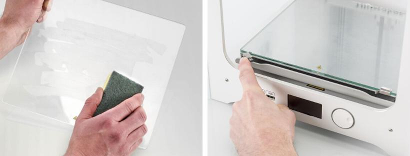 tutorial como limpar impressora 3D limpando a mesa