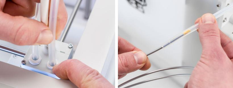 tutorial como limpar impressora 3D limpando o tubo