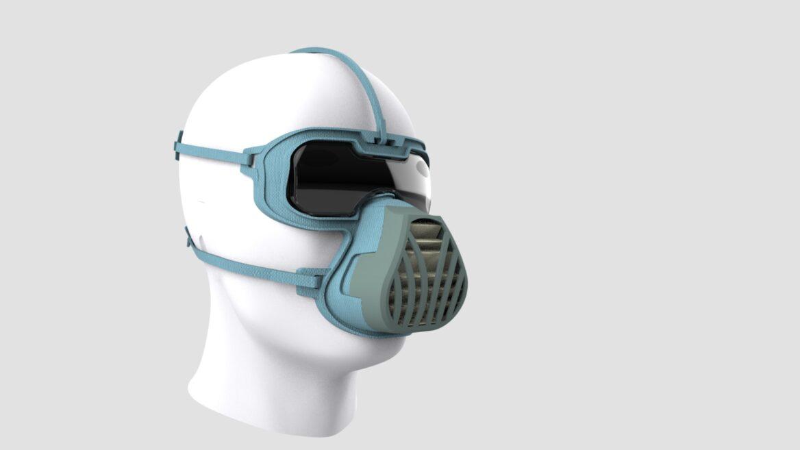 impressora 3d coronavirus mascara